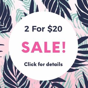 BUNDLE AND SAVE!! Look for 💎💎 2 for $20 items!!